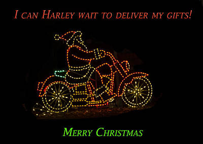 Peace On Earth Photograph - I Can Harley Wait by Jon Berghoff