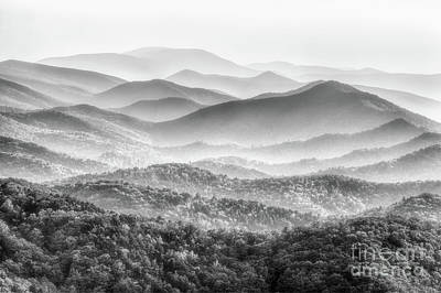 Photograph - I Can See For Miles And Miles Bw by Dan Carmichael