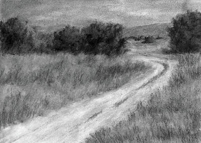 Drawing - I Can See For Miles Study by David King