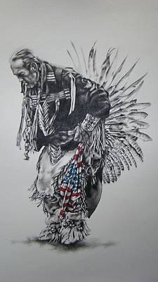 I Close My Eyes And Hear The Songs Of My Ancestors Art Print by Michael Lee Summers