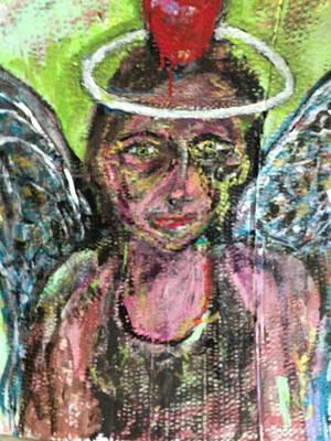 I Dare You Angel Art Print by Charles Long