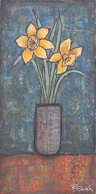 Daffodils Painting - I Dared Not Meet The Daffodils by Rebecca Childs