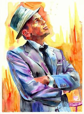 Frank Sinatra Painting - I Did It My Way by Suzann's Art