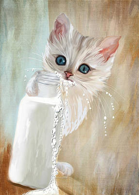 Drink Me Painting - I Didn't Do Nothing by Angela A Stanton