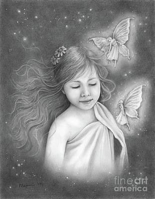 Drawing - I Do Believe In Fairies by Mayumi Ogihara