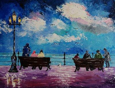 Painting - I Do Like To Be Beside The Sea by Valerie Curtiss