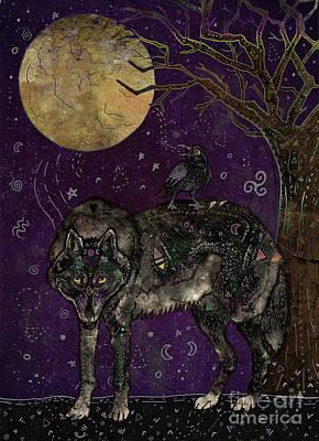 Wild Wolf Mixed Media - I Don't Speak Human by Francesca Rizzato
