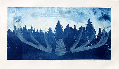 Printmaking Mixed Media - I Don't Want To Be Found by Arthur Deaville