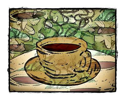 I Dream Of Coffee Art Print by Terry Mulligan