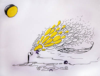 Drippy Drawing - I Dream Of Lemons by Nina Efk