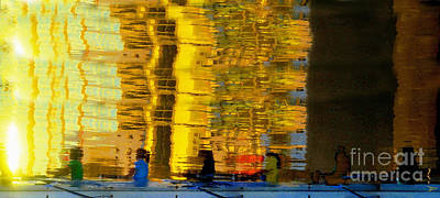 Sculling Digital Art - I Dreamed Of Six Woman Rowing by David Lee Thompson