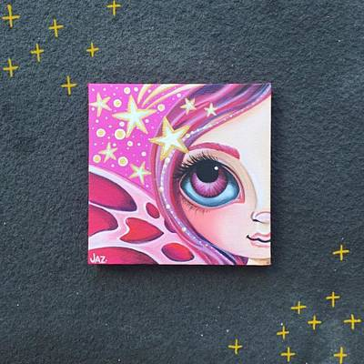 Fairy Photograph - I Finished Another Mini Painting Today by Jaz Higgins