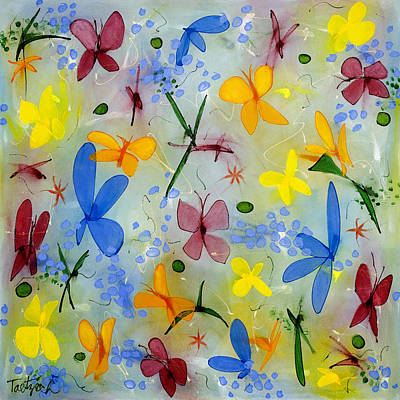 Painting - I Flit Through Life Three by Lynne Taetzsch