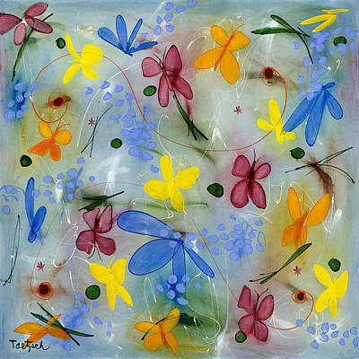 Painting - I Flit Through Life Two by Lynne Taetzsch