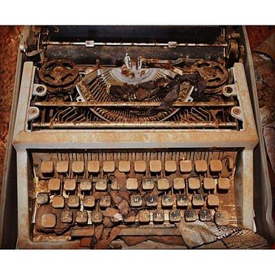 Typewriter Photograph - I Found An #old #typewriter In An by Anna Woodard