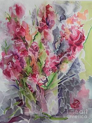 Painting - I Gave Her Flowers by Pamela Shearer