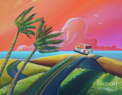 Whimsical Beach Wall Art - Painting - I Get Around by Cindy Thornton