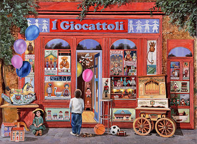 Toy Store Painting - I Giocattoli by Guido Borelli