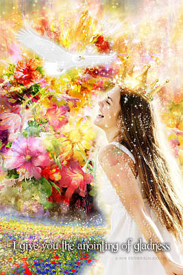 Smiling Jesus Digital Art - I Give You The Anointing Of Gladness by Esther Eunjoo Jun