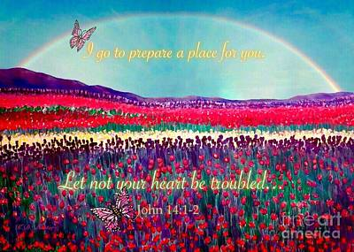 Painting - Let Not Your Heart Be Troubled by Kimberlee Baxter