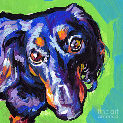 Dachshund Puppy Painting - I Got My Eyese On You by Lea S