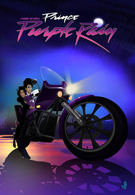 Digital Art - I Grew Up With Purplerain by Nelson dedos Garcia
