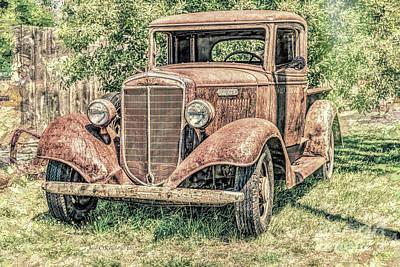 Photograph - I H C Truck by Jean OKeeffe Macro Abundance Art