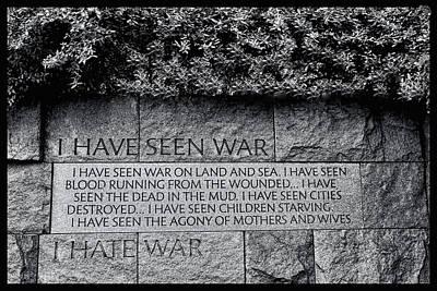 Photograph - I Hate War by Allen Beatty