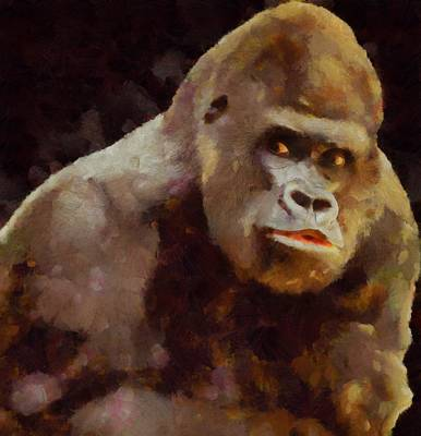 Gorilla Painting - I Have A Soul Too By Pierre Blanchard by Pierre Blanchard