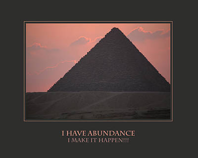 I Have Abundance  I Make It Happen Art Print by Donna Corless