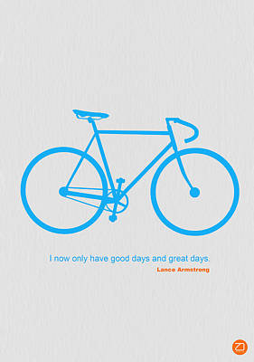 Bicycle Photograph - I Have Only Good Days And Great Days by Naxart Studio