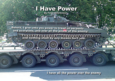 Wrath Digital Art - I Have Power by Bible Verse Pictures