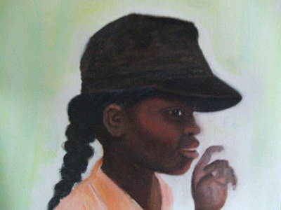St. Maarten Painting - I Have Something To Say by Deby Kalush