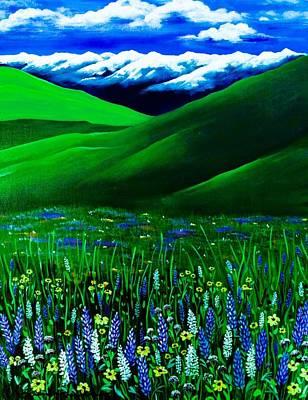 Digital Art - I Have The Blues In Zumwalt by Jennifer Lake