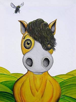 Naive Cartoon Painting - I Hear A Buzz by Oiyee At Oystudio