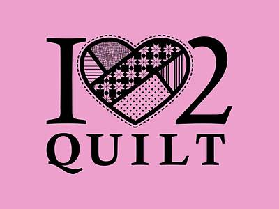Digital Art - I Heart 2 Quit by Nancy Lorene
