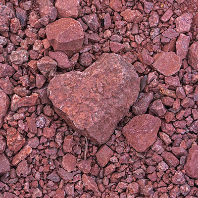 Photograph - I Heart Arizona Papago Park Heart Shaped Rock Phoenix Az by Toby McGuire
