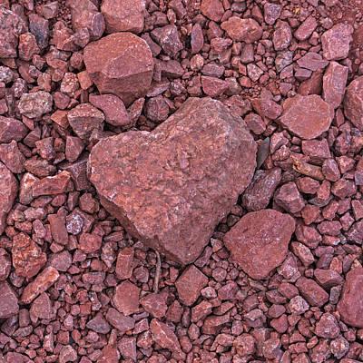 Photograph - I Heart Arizona Papago Park Heart Shaped Rock Phoenix Az by Toby McGuire
