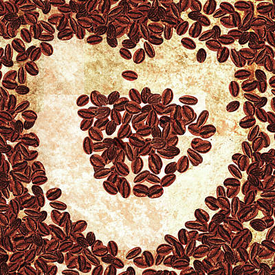 Painting - I Heart Coffee  by Irina Sztukowski