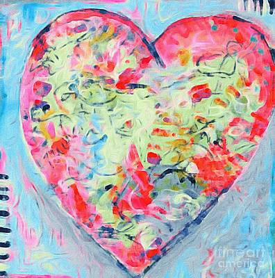 Painting - I Heart by Gail Butters Cohen