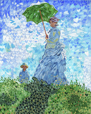 I Heart Monet Woman With A Parasol Original