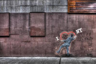 I Heart Ny Street Art 3 Original