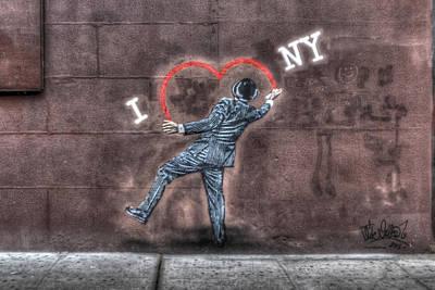 I Heart Ny Street Art Zoomed In Original by Randy Aveille