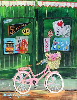 Painting - I Heart Sf by Mindy Carpenter