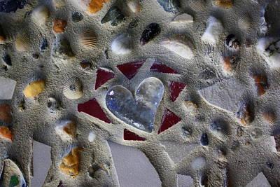 Ceramic Mixed Media - I Heart The Beach by Anne Babineau