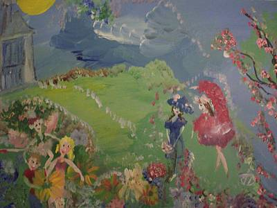 Art Print featuring the painting I Hope Fairies Are Real by Judith Desrosiers