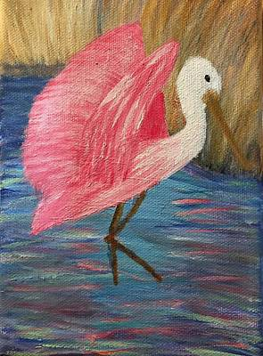 Spoonbill Mixed Media - I Hope You Dance 2 by Sherri McKendree