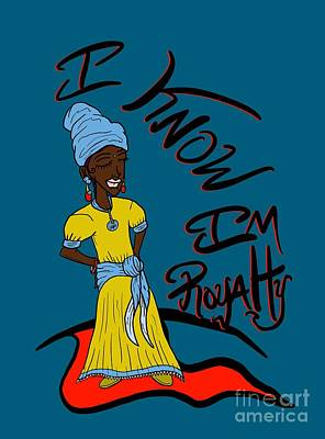 Digital Art - I Know Im Royalty Girl by Robert Watson