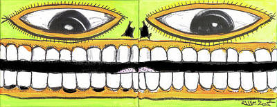 I Like 2 Smile Art Print by Robert Wolverton Jr