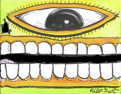 I Like 2 Smile Rs Art Print by Robert Wolverton Jr